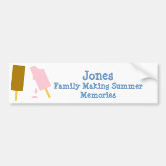 Ice Cream Personalized Summer Fun Car Bumper Sticker