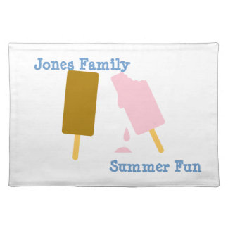 Ice Cream Personalized Summer Fun Cloth Placemat