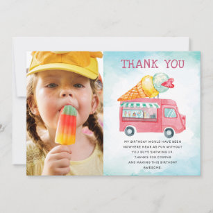 Birthday Card Ice Cream Truck Card