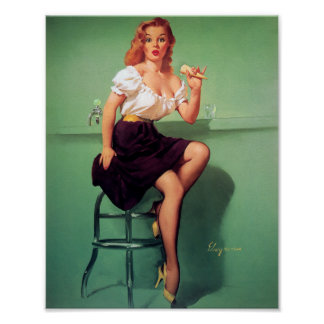 Ice Cream Pin Up Poster