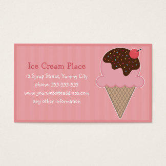 Ice Cream Place Business Card
