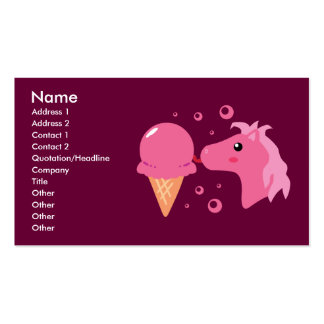 Ice Cream Pony Business Cards