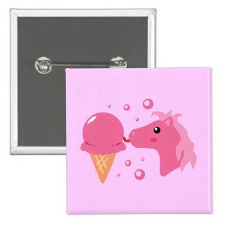 Ice Cream Pony Pinback Buttons