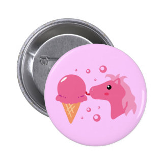Ice Cream Pony Button