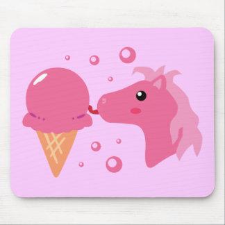 Ice Cream Pony Mouse Pad