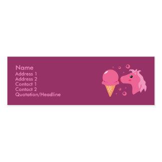 Ice Cream Pony Profile Cards