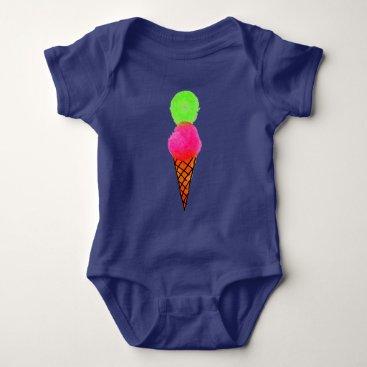 Beach Themed Ice cream pop art baby bodysuit