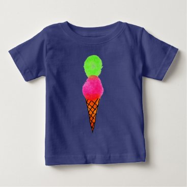 Beach Themed Ice cream pop art baby T-Shirt