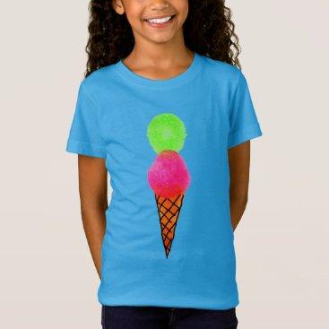 Beach Themed Ice cream pop art T-Shirt