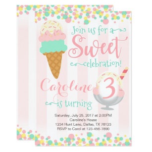 Ice Cream Invitations Announcements Zazzle