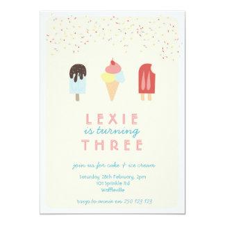 Ice Cream & Popsicle Summer Invitation