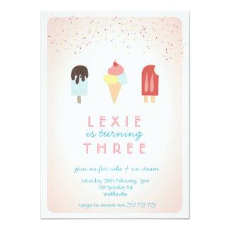 Ice Cream & Popsicle Summer Invitation Pink
