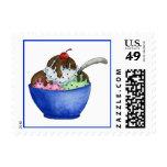 Ice Cream Postage Stamp
