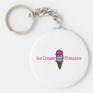 Ice Cream Princess Keychain
