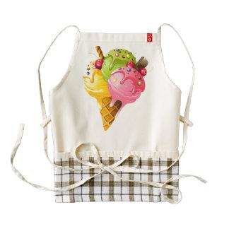Ice Cream Print Zazzle Fundraiser Heart Apron