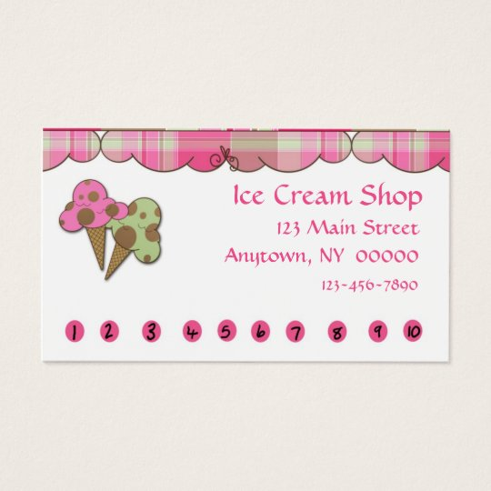 Ice Cream Punch Business Cards & Templates | Zazzle