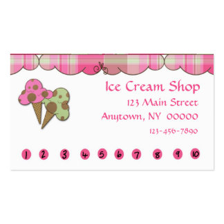 Ice Cream Punch Card Business Card