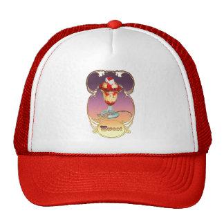 Ice Cream Raspberry Sundae Sweet Mesh Hat