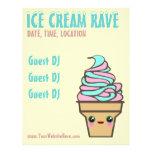 Ice Cream Rave Custom Flyer