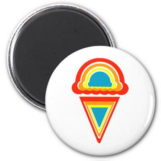 ice cream retro rainbowz refrigerator magnet
