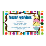 Ice Cream salon Double-Sided Standard Business Cards (Pack Of 100)