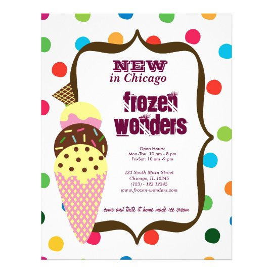 Ice Cream salon Flyer