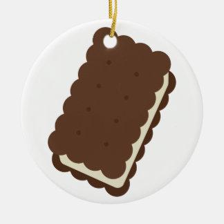 Ice Cream Sandwich Ceramic Ornament