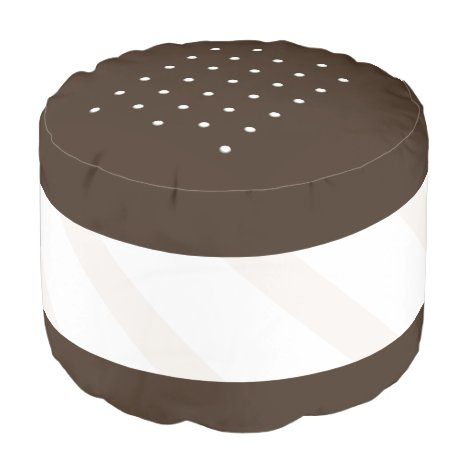 Ice Cream Sandwich Funny Food Pouf