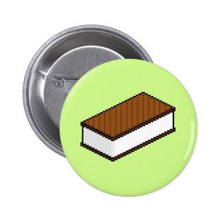 Ice Cream Sandwich - Honeydew 2 Inch Round Button