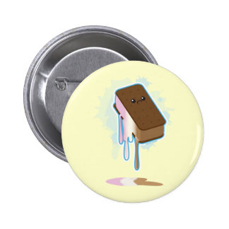 Ice Cream Sandwich Pinback Button