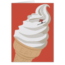 Ice Cream Santa Card