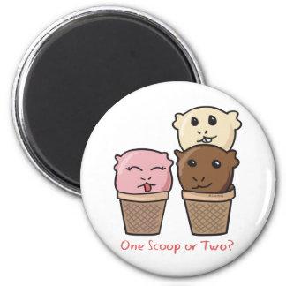 Ice Cream Scoops 2 Inch Round Magnet