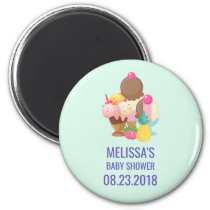 Ice Cream Scoops with Sprinkles Baby Shower Magnet