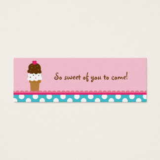 Ice Cream Shop Birthday Goodie Bag Tags