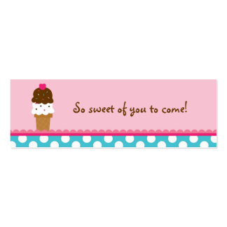 Ice Cream Shop Birthday Goodie Bag Tags Business Cards
