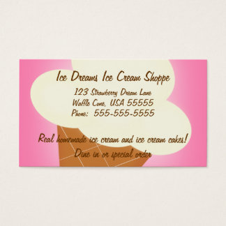 Ice Cream Shop Business Card