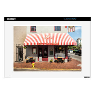 """Ice Cream Shop Downtown Savannah Decal For 15"""" Laptop"""