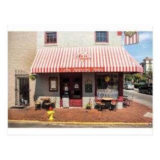 Ice Cream Shop Downtown Savannah Postcard