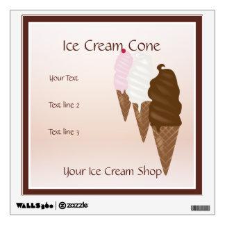 Ice Cream Shop Ice Cream Cone Wall Decal
