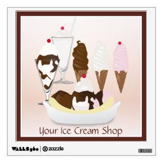 Ice Cream Shop Ice Cream Variety Wall Decal