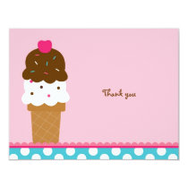 Ice Cream Shop Thank You Note Cards