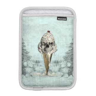 Ice cream skull in retro color palette sleeve for iPad mini