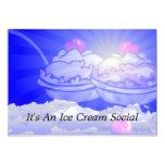 Ice Cream Skyline 5x7 Paper Invitation Card