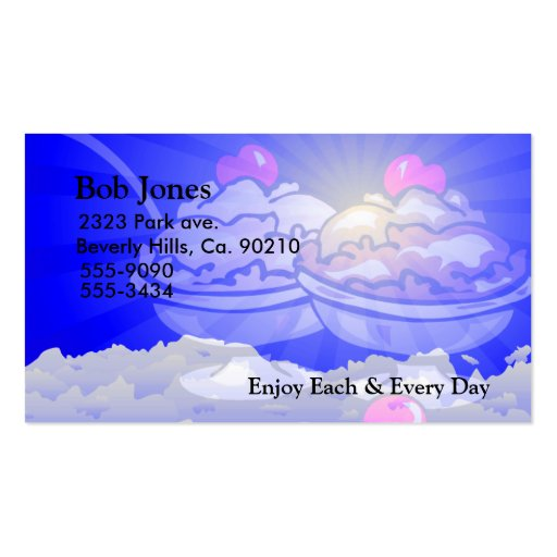 Ice Cream Skyline Double-Sided Standard Business Cards (Pack Of 100)