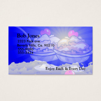 Ice Cream Skyline Business Card