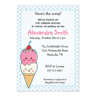 Ice Cream Social Baby Shower Card