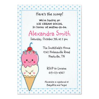 Ice Cream Baby Shower Invitations Announcements Zazzle