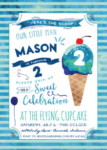ice cream birthday invitations zazzle