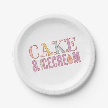 Halloween Themed ICE CREAM SOCIAL birthday party plates
