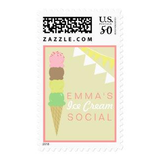 Ice Cream Social Custom Postage